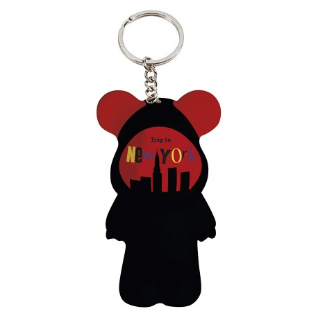 Funky Bear Jazzy NYC key ring a concept created by O.A