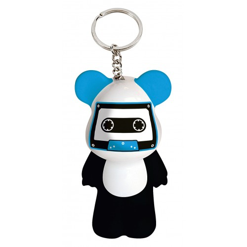 Funky Bear Let the Music key ring a concept created by O.A