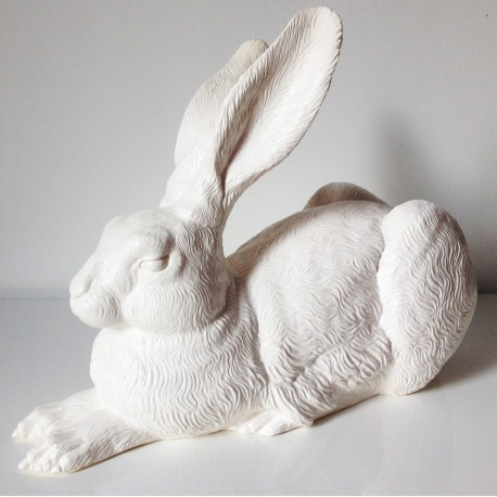 White rabbit Dürer Hare by Ottmar Hörl
