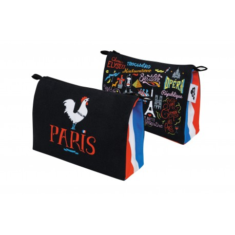 Original trendy travel bag or toilet bag Cities Paris by AK-LH