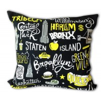 Original trendy cushion pure cotton Cities New York by AK-LH