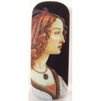 Glasses box with printed painting of artist Botticelli Portrait of a young woman