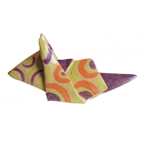 green,violet and orange mouse origami by chinese artist Kam Laï