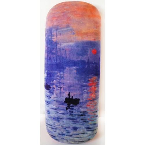 """Glasses box with printed painting """"Impression, Sunrise"""" by famous artist Monet"""