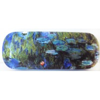 Glasses box with printed painting Water Lilies II by famous artist Monet