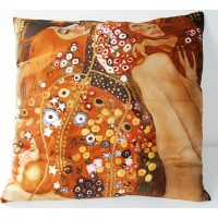 silk cushion hydre of Klimt