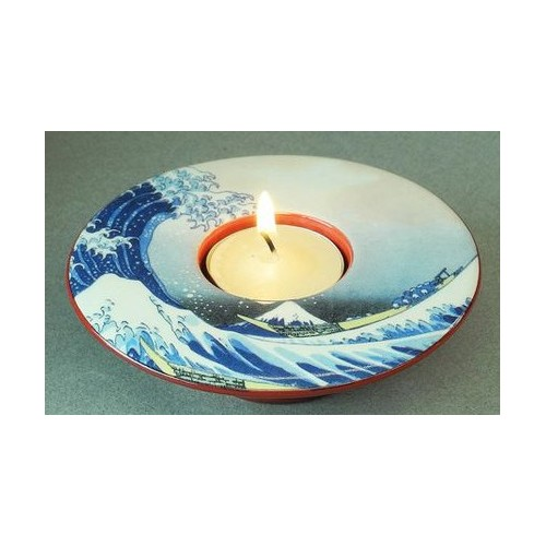 Tealight candle holder The Great Wave of Kanagawa by Hokusai