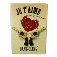 Notebook with detachable white pages to say I'love bang bang