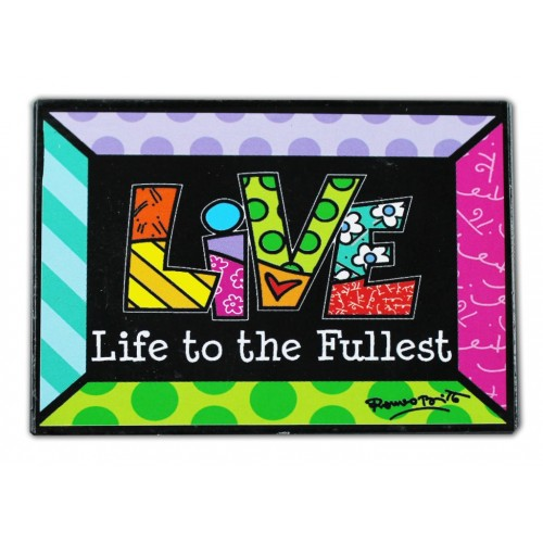 Magnet coloré Britto de collection sentiment Live (vivre)