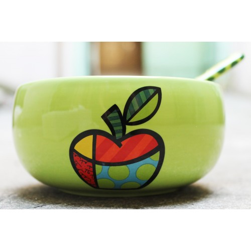 Original bowl apple theme of Brazilian artist Romero BRITTO