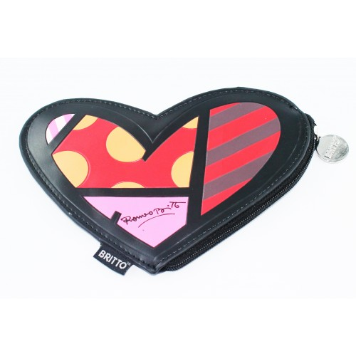 Penny dollars wallet heart by the artist Britto