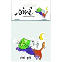 Collector magnet french artist Siné Cat Angel
