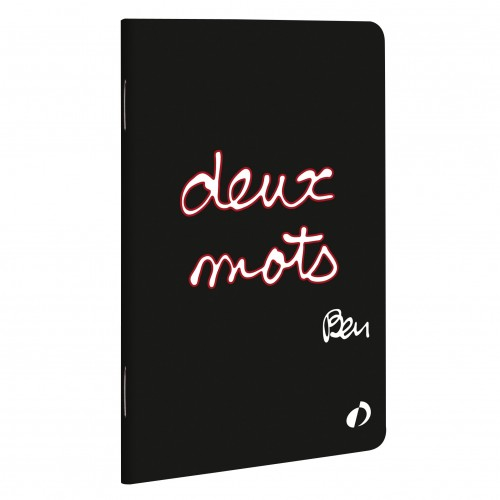 "Notebook by french artist Ben ""Two words"""