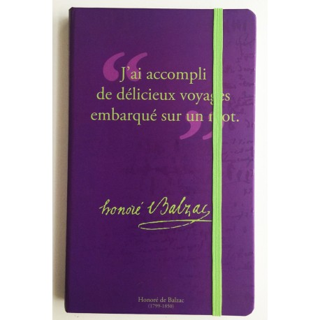 Notebook with a quote of Alfred de Musset